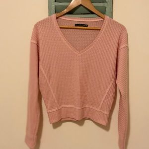 Abercrombie & Fitch Cropped V-Neck Sweater XS